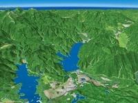桧原湖から秋元湖と小野川湖を眺める