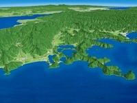 日本海側から望む三方五湖