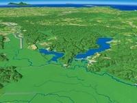塘路湖とシラルトロ湖と釧路川