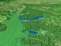 塘路湖とシラルトロ湖と達古武湖と釧路川