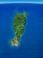 礼文島を南方上空より望む