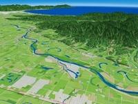 石狩川の蛇行跡と三日月湖