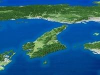 淡路島を南方上空より望む