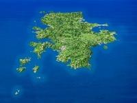 壱岐島を南西上空より望む 02614000355| 写真素材・ストックフォト・画像・イラスト素材|アマナイメージズ