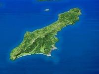 種子島を南東上空より望む 02614000356| 写真素材・ストックフォト・画像・イラスト素材|アマナイメージズ