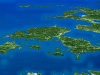 天草諸島を南東上空より望む