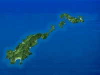 甑島列島を南方上空より望む