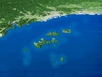 家島諸島と播磨平野