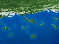 笠岡諸島と岡山平野