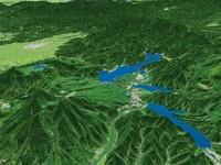 桧原湖と小野川湖と秋元湖 02614000419| 写真素材・ストックフォト・画像・イラスト素材|アマナイメージズ