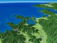 若狭湾へ向けて望む三方五湖