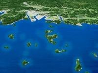 笠岡諸島と福山平野
