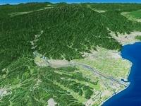 赤石山脈と大井川を望む