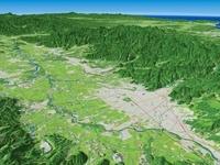 山形市南西から望む山形盆地
