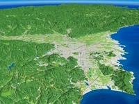 松山市北部から南へ望む道後平野