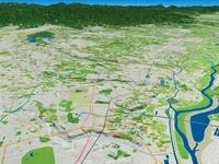 荒川による武蔵野台地の段丘 02614000536| 写真素材・ストックフォト・画像・イラスト素材|アマナイメージズ