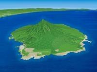 日本海に浮かぶ利尻島の利尻山を望む