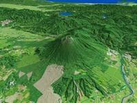 岩手山を望む