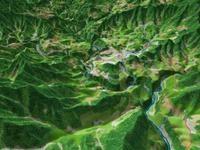 高千穂峡を望む