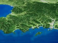 日南海岸を望む