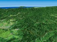 浅間隠山と北軽井沢を遠景より望む
