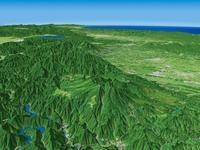 高原山を遠景より望む