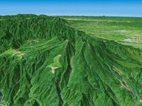 高原山を望む