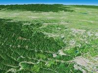 日和田山と物見山を遠景より望む