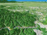 日和田山と物見山を望む
