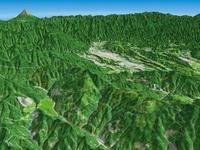 大霧山と秩父盆地を望む