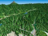 高尾山を望む