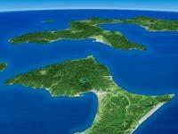 下北半島と津軽海峡を望む