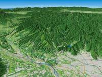 御岳昇仙峡を望む