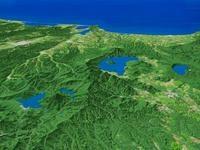 阿寒湖・屈斜路湖・摩周湖を望む