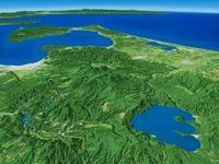 十和田湖・八甲田山系を望む 02614000711| 写真素材・ストックフォト・画像・イラスト素材|アマナイメージズ