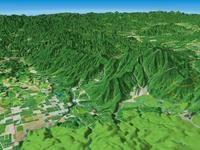 浅間隠山と北軽井沢を望む