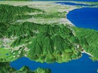 箱根山を望む