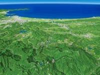 宮城蔵王から太平洋を望む 02614000724| 写真素材・ストックフォト・画像・イラスト素材|アマナイメージズ