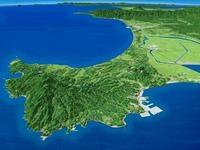 男鹿半島と八郎潟を望む 02614000726| 写真素材・ストックフォト・画像・イラスト素材|アマナイメージズ