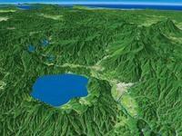 田沢湖・秋田駒ヶ岳を望む