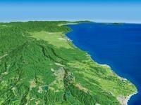 象潟から鳥海山を望む