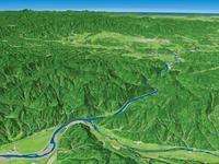最上峡谷を望む