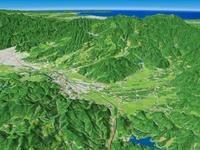 上山から蔵王温泉を望む 02614000730| 写真素材・ストックフォト・画像・イラスト素材|アマナイメージズ