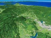 雫石盆地と岩手山を望む