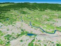 水戸市・那珂川を望む