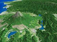 富士山と富士五湖を望む
