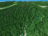 大井川と寸又峡を望む