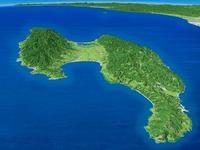 佐渡島を望む