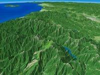 立山と黒部湖を望む 02614000760| 写真素材・ストックフォト・画像・イラスト素材|アマナイメージズ