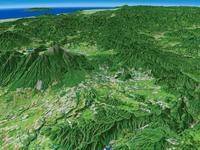 軽井沢と浅間山を望む